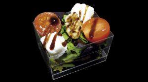 Ensalada de Queso Mozzarela con Cherries y Nueces